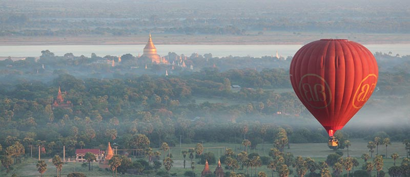 Balloon Over Bagan